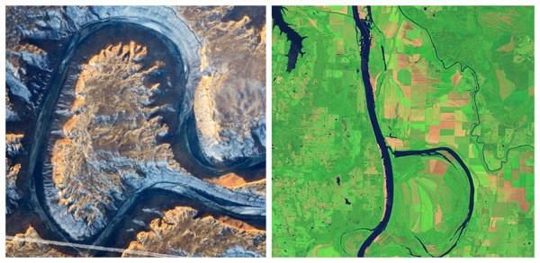 NASA专家用地球卫星图合成完整字母表