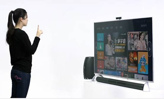 乐视超级电视集手势识别,语音识别,内容自动推荐等人工智慧于一体